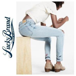 Lucky Brand Bridgette High Rise Skinny Crop Jean